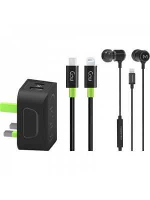 بكج قوي Earset + Wall Charger PD + Cable